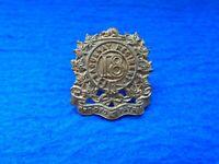 RARE 1900-1909 CANADIAN 18TH SAGUENAY REGIMENT GILDING METAL COLLAR BADGE
