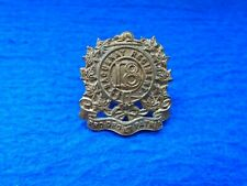 RARE 1900-1909 CANADIAN 18TH SAGUENAY REGIMENT GILDING METAL COLLAR BADGE