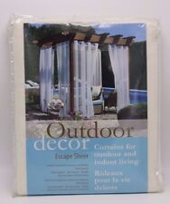 Outdoor Decor Escape Shear (2) Ivory Panel Grommet Top Tieback 108 X 96 Gazebo