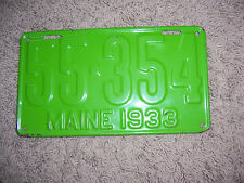 Maine license plate---------55-354    1933