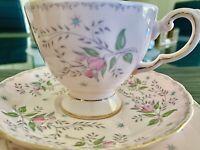 Vintage Tuscan Fine English Bone China Teacup Trio Tea Set