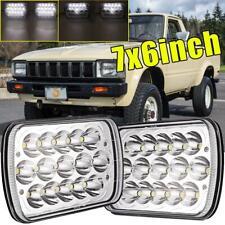 "2pcs H6054 7""x6"" LED Headlight Hi-Lo Beam Headlamp For Jeep Toyota Truck Pickup"