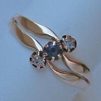 Ring mit Safir und Diamanten antik in aus 14 Kt. 585 Gold Finger Damen Gr. 60