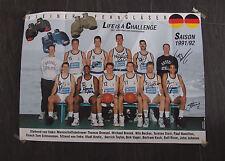 Steiner Bayreuth Basketball 1.Bundesliga 1991 / 1992 Mannschaftsposter 63 x 46cm