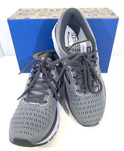 Brooks Ghost 13 Women's Size 8.5M Gray/Purple Athletic Running Shoes X7-114