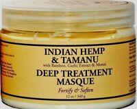 Nubian Heritage Indian Hemp & Tamanu Deep Treatment Hair Masque Mask 12 oz.