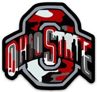 OSU Camouflage Magnet Logo Type Buckeyes Ohio State