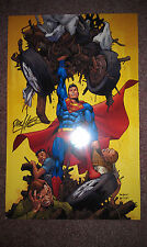 LITHOGRAPH SUPERMAN SIGNED CARLOS PACHECO LIMITED TO 250 COPIES