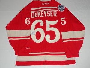 DANNY DEKEYSER SIGNED RBK DETROIT RED WINGS 2014 WINTER CLASSIC JERSEY LICENSED
