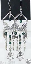 Bijoux fantaisie boucles d'oreille métal vieill, perles