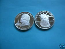 THOMAS JEFFERSON AUTHOR DECLARATION OF INDEPENDENCE SILVER COIN RARE ITEM