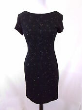 SHORT SLEEVES PERFECT LITTLE BLACK DRESS WITH OPEN BACK size Small