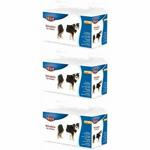 36 x Trixie Male Dogs Diapers, Disposable Nappies, Large to XL for 60-80cm Waist