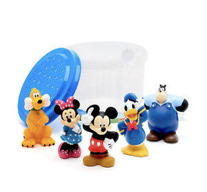 DISNEY Mickey & Friends Squeezy Bath Toy Set Bathtime 5 x Figure Playset **NEW**