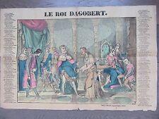GRANDE IMAGE EPINAL 1880 LE ROI DAGOBERT CHANSON
