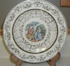 "Vintage 22 Karat Gold Fine dinnerware Victorian couple salad plate 7"""