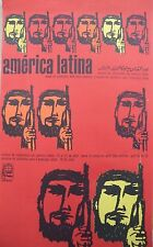 OSPAAAL Original Political Poster AMERICAN LATINA 1968 ORIGINAL SOLIDARITY CUBAN