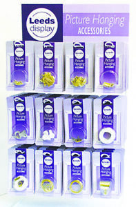 Picture Hanging Accessories: Hooks, Cord, Nails, Screws, D Rings, Screw Eyes etc