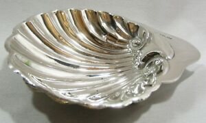 Antique Solid Silver Shell Dish English Sheffield 1936 Sterling James Deakin