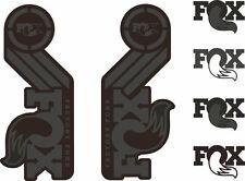 FOX Racing Shox AM Heritage Sticker Decal 2015 Kit Fork/Shock Set Stealth Black