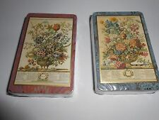 New listing 2 Decks In Wrapping-2 Different Classical Floral Arrangements-Belgium