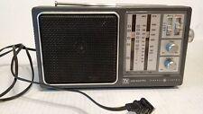 """10"""" General Electric WB/AM/FM Radio No 7-2945A TV SOUND w/Handle AC Cord works"""