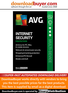 AVG Internet Security 2021 - 3 Devices - 1 Year [Download]