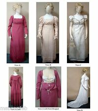Ladies Round & Trained Gown w/High Stomacher Laughing Moon Sewing Pattern 126