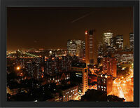 MANHATTAN DOWNTOWN NEW A3 FRAMED PHOTOGRAPHIC PRINT POSTER