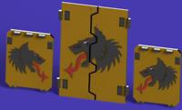 40k Bits - Space Marine Darkwolves APC Door Set