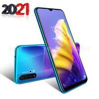 "6.6"" Unlocked Android 9.0 Smartphone Cell Phone Dual SIM Quad Core Phablet Cheap"
