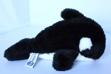 "Vintage 1980 Sea World 8 1/2"" Shamu Killer Whale Plush Stuffed Animal"