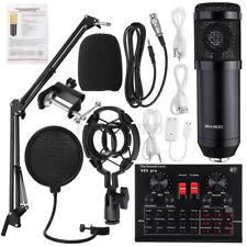 V8X Pro Sound Karte Aufnehmen BM800 Mikrofon Kit Kondensator Ständer Set Live