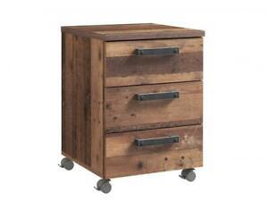 Rollcontainer CLIF von Forte Old-Wood Vintage / Beton