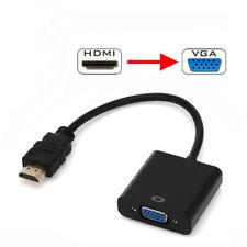HDMI Male to VGA Female Video Cable Cord Converter Adapter For PC DVD HDTV DA