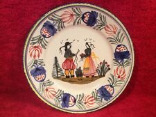 Sweet HB Quimper Breton Couple French Faience Plate, ff394 GIFT QUALITY!!