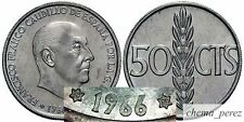 // 1 moneda de 50 centimos peseta 1966 *72 SC \