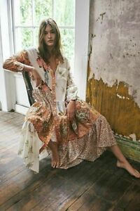 NEW! Free People Days Of Ditzies Maxi Dress Floral Printed Button Tiered, small