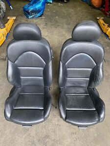 01-06 BMW E46 M3 Coupe Front Nappa Black Front Seats Powered