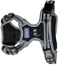 SPORTS DOG HARNESS IN BLACK BY DOG & CO - AJUSTABLE REFLECTIVE / MEDIUM