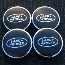 NEW LAND ROVER LOGO (SET OF 4) 2.5IN BLACK WHEEL CENTER CAPS WC4PC548