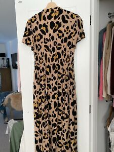 Somerset By Alice Temperley Dress Size 10 Leopared Print