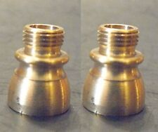 """(2) Nozzle Reducers Solid Brass 1/4""""IPS(1/2"""" Dia) X 1/8""""IPS(3/8"""" Dia) Lamp (NB1)"""
