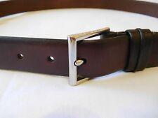 Cole Haan Mens Leather Belt Size 32 Dark Roast Burnish New Dark Brown