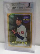 2018 Topps Heritage Chrome Gold Refractor Verlander 3/5!!  Beckett Graded Mint 9