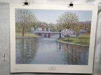 "E. Joseph Fontaine ""Reflections of Spring"" Lithograph Art Print 28"" x 33"""