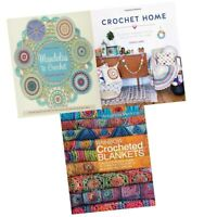 Mandalas to Crochet,Rainbow Crocheted Blankets 3 Books Collection Set New Pack