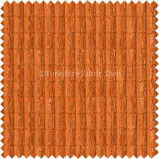 Soft Corduroy Brick Waffle Texture Upholstery Furnishing Vibrant Orange Fabric