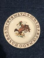 Westward Rodeo Wallace China  Dinner Plate Excellent Near Mint Condition