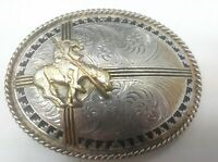 VINTAGE Montana Silversmith End Of The Trail Native Indian Belt Buckle